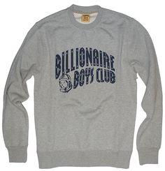 BILLIONAIRE BOYS CLUB Lure Crewneck in Grey B0012K252, Free Shipping at CelebrityModa.com