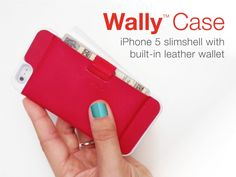 Minimal Leather Wallet + iPhone Protection = Wally Case by Distil Union — Kickstarter.  Simplify your grab-n-go with Wally Case: The minimal snap-on iPhone case that stashes your cards the smart way...