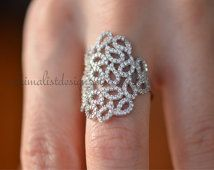 Sterling Silver, Engagement Ring, Wedding Band, Birthday Gift,Micro Pave Ring, Knuckle Ring,Christmas Gift