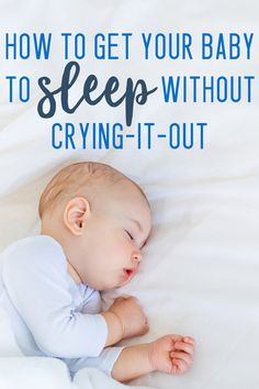 no cry sleep training - I have NEVER been interested in doing CIO with my kids, and this gentle baby sleep training WORKS! #baby #sleep #newmom #parenting #kids
