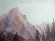 Enchantments: original watercolor landscape 24 x 18 by projectsend