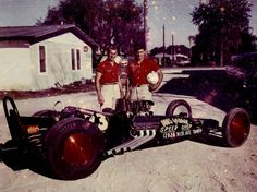 Ed and Don Garlits w/ Swamp Rat 1 after it had broken 170mph...