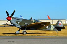 A beautifully kept classic! This Spitfire in Post-war Czech Air Force colours seen  at KPAE (Paine Airfield)