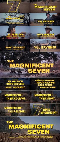 The Magnificent Seven (1960) trailer typography