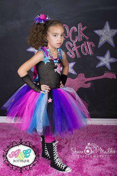 Rockstar tutu dress, Monster High tutu dress, Rockstar Birthday, Rockstar photo shoot on Etsy, $42.00