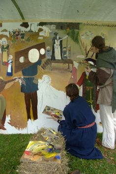 Hämeen keskiaikamarkkinat - Häme Medieval Faire 2008, Maalaus - Painting, © Timo Martola