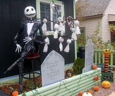 Creative Halloween Ideas for Outdoor Spaces: Jack Skellington & Friends