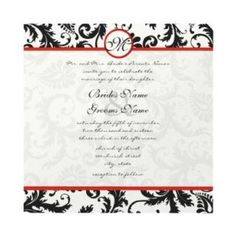 red and black wedding invitations - Google Search