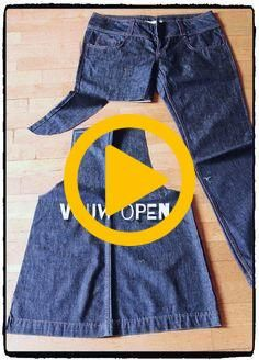 Fashion and Lifestyle Preppy Outfits, Fashion Outfits, Kids Dress Patterns, How To Make Skirt, Leather Apron, Denim Overall Dress, Denim Crafts, Recycle Jeans, Recycled Denim
