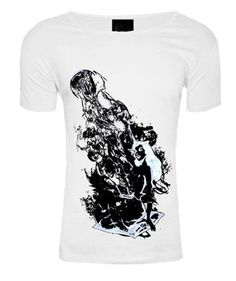 Smoke Woman White Scoop Neck t-shirt | Clothing for men