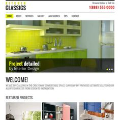 Contemporary template suitable for kitchen and interior design