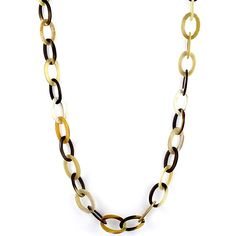 Elbeto Horn long necklace in small oval links