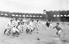 finale de rugby a XV entre Lourdes et Tarbes le 2 juin 1951