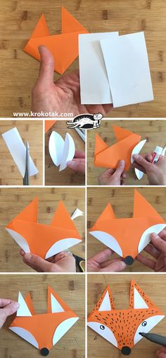 Geometric Origami Birds – Modern Wall Pattern Vinyl Decal / Sticker Set For Home, Kids Room, Nursery, Bedroom. Fall Paper Crafts, Fall Crafts For Kids, Art For Kids, Fox Crafts, Diy And Crafts, Arts And Crafts, Kids Origami, Origami Bird, Geometric Origami