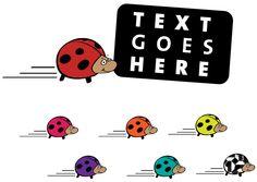 Vector Cartoon Ladybug
