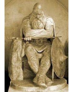 "Sculpture of Gorm ""The Old"" Hardeknudsson King of Denmark"