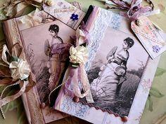 Vintage Floral Journals by NoelleGarrettDesigns, via Flickr