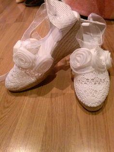 Las zapatillas de la novia, baila comoda toda la noche!!!!