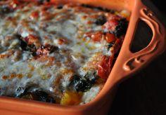 roast pumpkin and kale lasagna----2 of my favourite foods in 1!