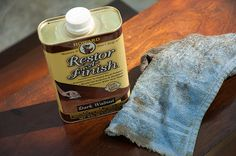 Wood restorer that camouflages scratches & dings