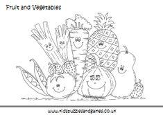 Healthy food coloring worksheet