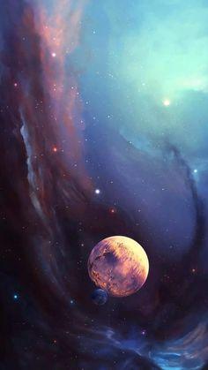 唯美星空 夜景 夜空 星光 浩瀚宇宙 自然风景 iphone手机壁纸 唯美壁纸 锁屏