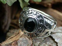 Sterling Silber 925, Eisernes Kreuz Ring mit Onyx,Freimaurer,Masonic, Iron Cross