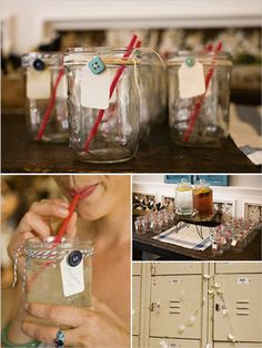 Drink tags for cute as a button party