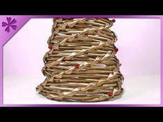 Jak zrobić choinkę z papierowej wikliny, wicker paper, christmas tree - YouTube