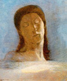 Odille Redon – Zamknięte oczy