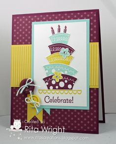 pool parties, birthday card, stamp sets, color schemes, color combos, cakes, topsi turvi, nanci riley, cake pops