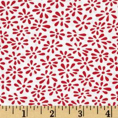 Moda Weeds Tiny Weeds White/Red from @fabricdotcom  Designed by Me and My Sister Designs for Moda, this cotton print is perfect for quilting, apparel and home decor accents.  Colors include red and white.