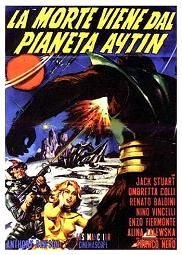 Snow Devils (Italian Language Version) (1965) aka's: La Morte Viene Dal Pianeta Aytin/Snow; Amidst a melting of the ice caps, a weather station in the Himalayas is destroyed and Gamma I commander Rod Jackson and his partner Frank Pulasky go to investigate. Joined by Lisa Nielson and Sharu, their Sherpa guide, they are captured by a race of hairy blue-bodied giants who plan to create a vast ice plane so their race can leave their doomed solar system and conquer Earth.