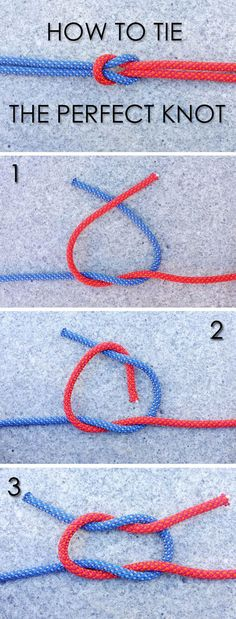 We know that tying a secure knot is an important survival skill. Learn how to ti. - - We know that tying a secure knot is an important survival skill. Learn how to ti. Rope Knots, Macrame Knots, Tie The Knots, Tying Knots, Survival Tips, Survival Skills, Survival Food, Knitting Patterns, Crochet Patterns