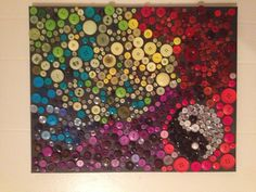 Mosaic using buttons