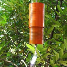 DIY windchimes made out of cans | recycled wind chimes