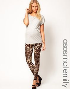 ASOS Maternity Legging In Leopard Print - i would so have rocked this  IF  i was pregnant during the winter! :*(