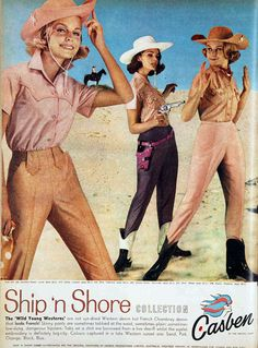 """""""Check out the little Marlboro Man on my bicep."""" (Funny bad retro fashion ads)"""
