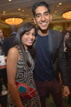 Freida Pinto and Dev Patel at the 2013 BAFTA Award Season Tea Party at Four Seasons Hotel Beverly Hills on Jan 12, 2013