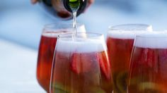 Make your own happy hour. Cheers! Here's what you'll need: 1 lb strawberries 1 lb kiwis 1 cup light rum 1 bottle white wine (such as sauvignon blanc) 1 bottl...