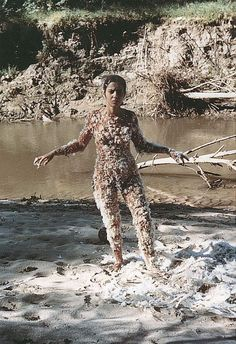 Ana Mendieta, Untitled Blood and Feathers, 1974. Estate Ana Mendieta.