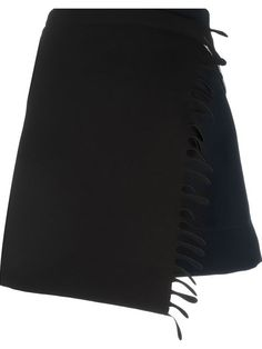 PACO RABANNE Wrap-Style Fringed Skirt. #pacorabanne #cloth #skirt