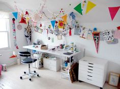 christine tillman's office // via etsy blog