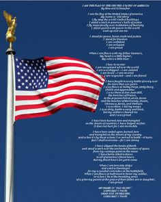 I Am The Flag of the United States of America (printable) This brings tears to my eyes, I Love this poem! American Pride, American History, American Flag, I Love America, God Bless America, Star Spangled Banner, Let Freedom Ring, Old Glory, Eau De Cologne