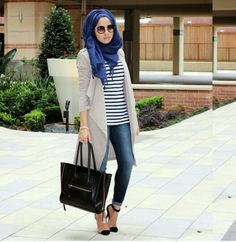 simple casual and beautiful hijab outfit