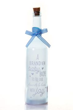 Brand New Baby Starlight Bottle www.solefavors.com