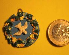 Piastrella decorativa tipo ceramiche Della Robbia
