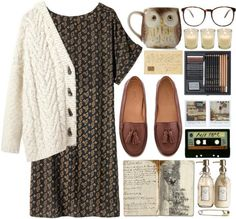 I'll fight to survive through this thunderous life by lourrystylinson featuring wooden home decor Grunge Outfits, Casual Outfits, Pretty Outfits, Cute Outfits, Vintage Outfits, Vintage Fashion, Look Girl, Le Happy, Indie Fashion