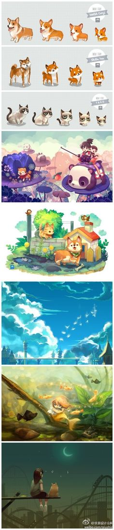 56 Ideas for cute art drawings animals anime characters Art And Illustration, Illustrations, Anime Kunst, Anime Art, Cute Drawings, Animal Drawings, Manga Kawaii, Creature Design, Animal Design