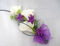 Wedding Flowers | LADIES CALA LILY CORSAGE, WEDDING FLOWERS, BOUQUETS